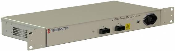 Fiber optic MM to SM Converter