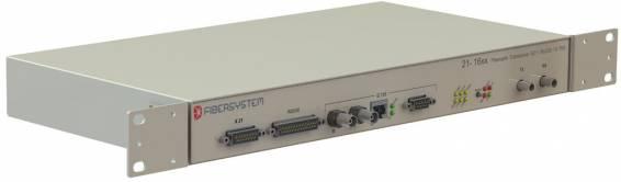 Fiber optic modem G.703/X.21