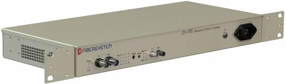21-170 Fiber optic G.703 E1 converter