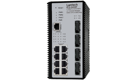 8 10/100TX + 2 10/100/1000T + 2 Dual Speed SFP L2+ Industrial Managed Switch